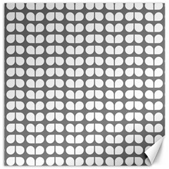 Gray And White Leaf Pattern Canvas 16  X 16  (unframed) by creativemom