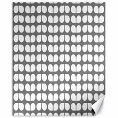 Gray And White Leaf Pattern Canvas 16  X 20  (unframed) by creativemom