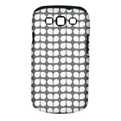 Gray And White Leaf Pattern Samsung Galaxy S Iii Classic Hardshell Case (pc+silicone) by creativemom