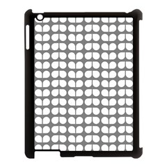 Gray And White Leaf Pattern Apple Ipad 3/4 Case (black) by creativemom