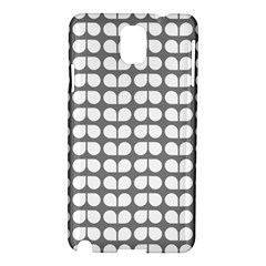 Gray And White Leaf Pattern Samsung Galaxy Note 3 N9005 Hardshell Case by creativemom