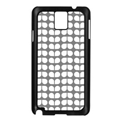 Gray And White Leaf Pattern Samsung Galaxy Note 3 N9005 Case (black) by creativemom