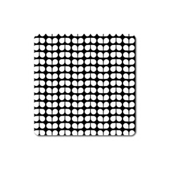 Black And White Leaf Pattern Magnet (square) by creativemom