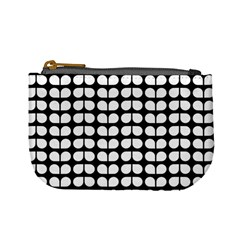 Black And White Leaf Pattern Coin Change Purse by creativemom