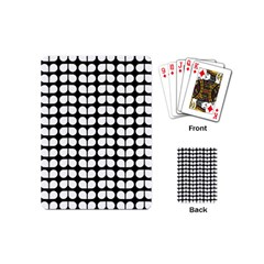 Black And White Leaf Pattern Playing Cards (mini) by creativemom