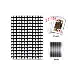 Black And White Leaf Pattern Playing Cards (Mini) Back