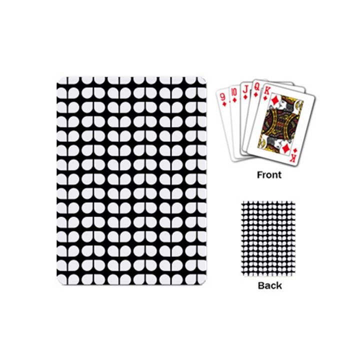 Black And White Leaf Pattern Playing Cards (Mini)