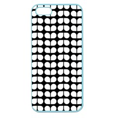 Black And White Leaf Pattern Apple Seamless Iphone 5 Case (color) by creativemom