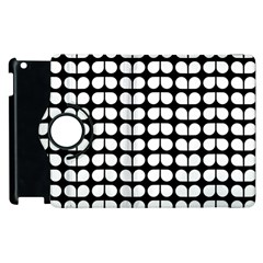 Black And White Leaf Pattern Apple Ipad 2 Flip 360 Case by creativemom