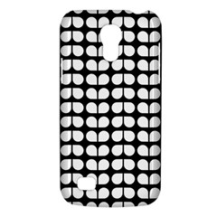 Black And White Leaf Pattern Samsung Galaxy S4 Mini (gt I9190) Hardshell Case  by creativemom