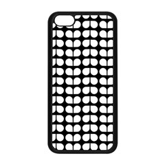 Black And White Leaf Pattern Apple Iphone 5c Seamless Case (black) by creativemom