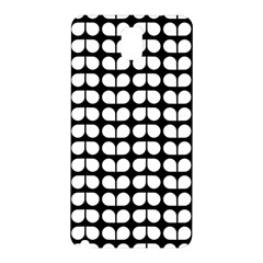 Black And White Leaf Pattern Samsung Galaxy Note 3 N9005 Hardshell Back Case by creativemom