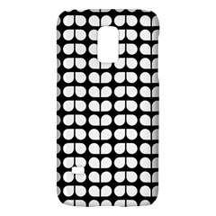 Black And White Leaf Pattern Samsung Galaxy S5 Mini Hardshell Case  by creativemom