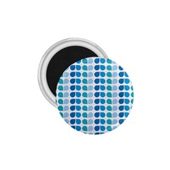 Blue Green Leaf Pattern 1 75  Button Magnet by creativemom
