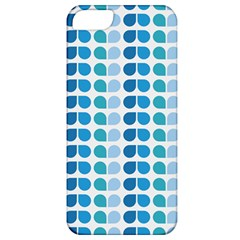 Blue Green Leaf Pattern Apple Iphone 5 Classic Hardshell Case by creativemom