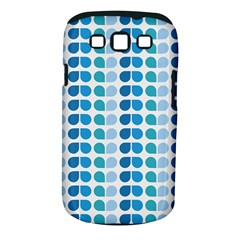 Blue Green Leaf Pattern Samsung Galaxy S Iii Classic Hardshell Case (pc+silicone) by creativemom
