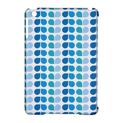 Blue Green Leaf Pattern Apple Ipad Mini Hardshell Case (compatible With Smart Cover) by creativemom
