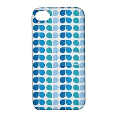 Blue Green Leaf Pattern Apple Iphone 4/4s Hardshell Case With Stand by creativemom