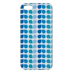 Blue Green Leaf Pattern Apple Iphone 5 Premium Hardshell Case by creativemom