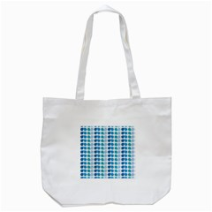 Blue Green Leaf Pattern Tote Bag (white) by creativemom