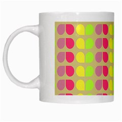 Colorful Leaf Pattern White Coffee Mug by creativemom