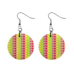 Colorful Leaf Pattern Mini Button Earrings