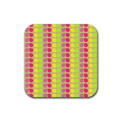 Colorful Leaf Pattern Drink Coasters 4 Pack (square) by creativemom