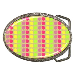 Colorful Leaf Pattern Belt Buckle (oval) by creativemom