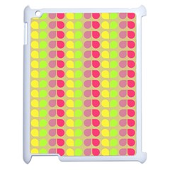 Colorful Leaf Pattern Apple Ipad 2 Case (white)