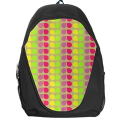 Colorful Leaf Pattern Backpack Bag by creativemom