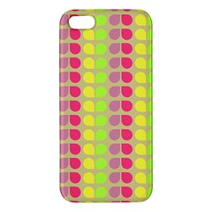 Colorful Leaf Pattern Iphone 5s Premium Hardshell Case by creativemom