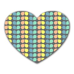 Colorful Leaf Pattern Mouse Pad (heart) by creativemom