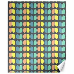 Colorful Leaf Pattern Canvas 11  X 14  (unframed) by creativemom
