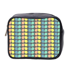 Colorful Leaf Pattern Mini Travel Toiletry Bag (two Sides) by creativemom