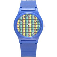 Colorful Leaf Pattern Plastic Sport Watch (small) by creativemom
