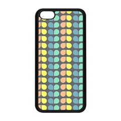 Colorful Leaf Pattern Apple Iphone 5c Seamless Case (black) by creativemom