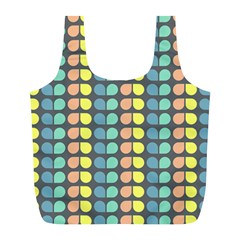 Colorful Leaf Pattern Reusable Bag (l) by creativemom