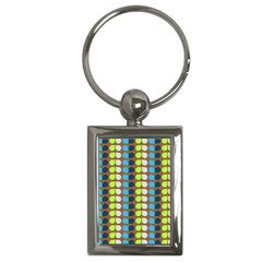 Colorful Leaf Pattern Key Chain (rectangle) by creativemom