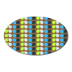 Colorful Leaf Pattern Magnet (oval) by creativemom