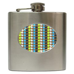 Colorful Leaf Pattern Hip Flask by creativemom