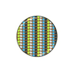 Colorful Leaf Pattern Golf Ball Marker 4 Pack (for Hat Clip) by creativemom