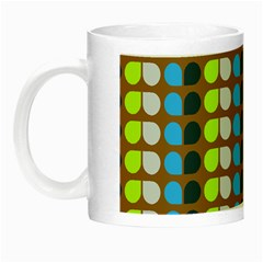 Colorful Leaf Pattern Glow In The Dark Mug by creativemom