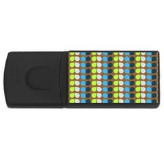 Colorful Leaf Pattern 4gb Usb Flash Drive (rectangle) by creativemom