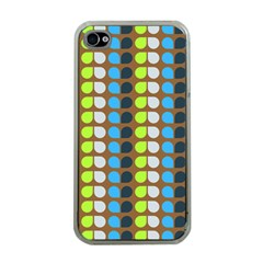 Colorful Leaf Pattern Apple Iphone 4 Case (clear) by creativemom