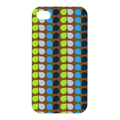 Colorful Leaf Pattern Apple Iphone 4/4s Premium Hardshell Case by creativemom