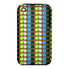 Colorful Leaf Pattern Apple Iphone 3g/3gs Hardshell Case (pc+silicone) by creativemom