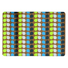 Colorful Leaf Pattern Samsung Galaxy Tab 10 1  P7500 Flip Case by creativemom