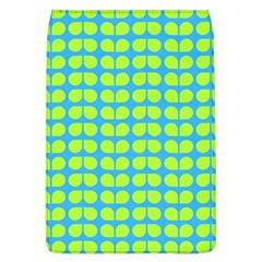 Blue Lime Leaf Pattern Removable Flap Cover (large) by creativemom