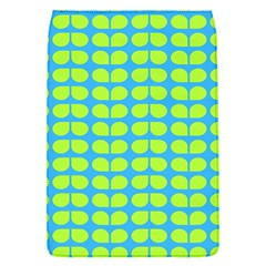 Blue Lime Leaf Pattern Removable Flap Cover (small)
