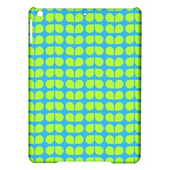 Blue Lime Leaf Pattern Apple Ipad Air Hardshell Case by creativemom
